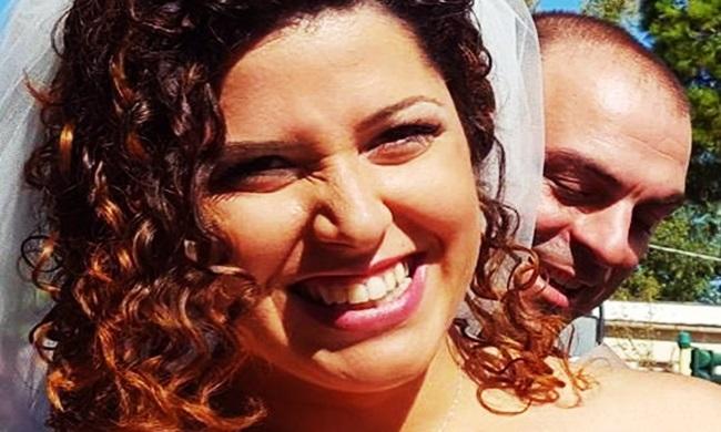 Roberta Smargiassi e o esposo Fabio