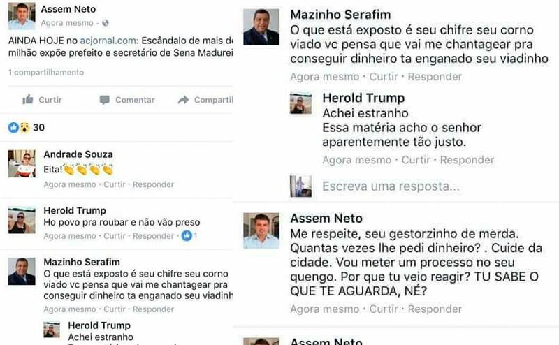 Mazinho prefeito de Sena Madureira